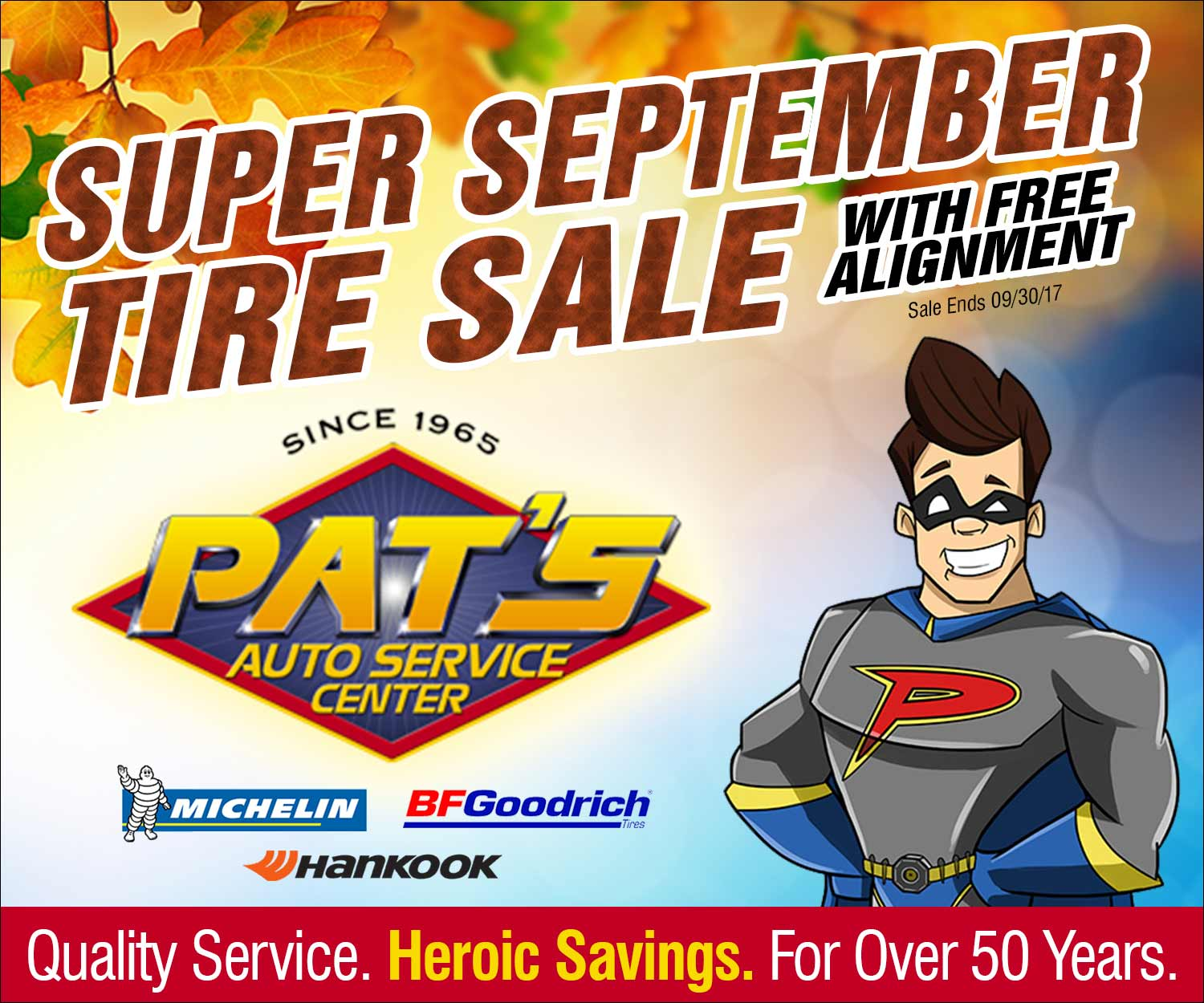 Super September Tire Sale
